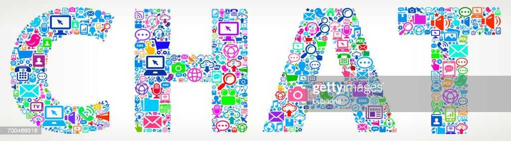 Chat Future and Internet Communication Technology Vector Buttons
