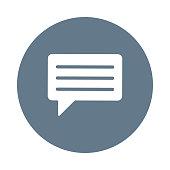 chat glyph flat circle icon