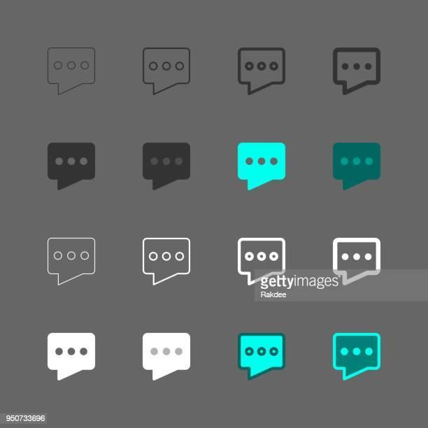 chat-symbol - multi serie - sprechblase für internetchat stock-grafiken, -clipart, -cartoons und -symbole