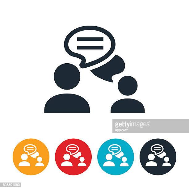 chat icon - discussion stock illustrations