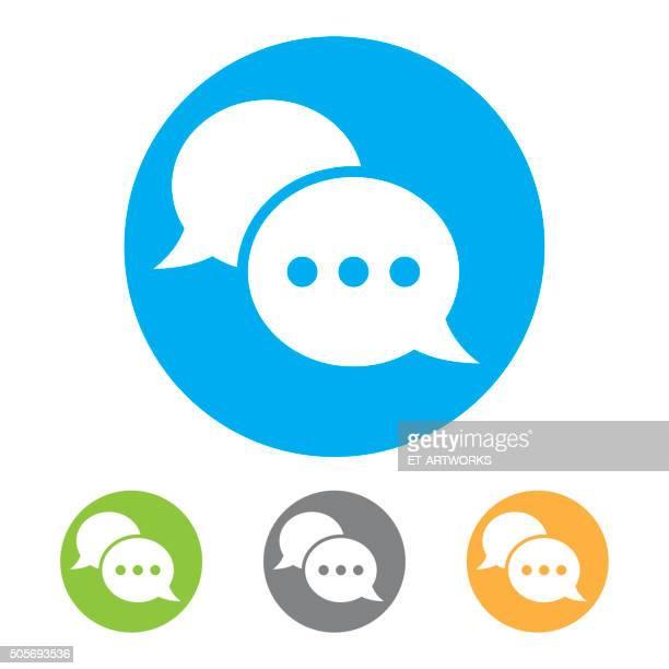 chat-icon. vektor - sprechblase für internetchat stock-grafiken, -clipart, -cartoons und -symbole