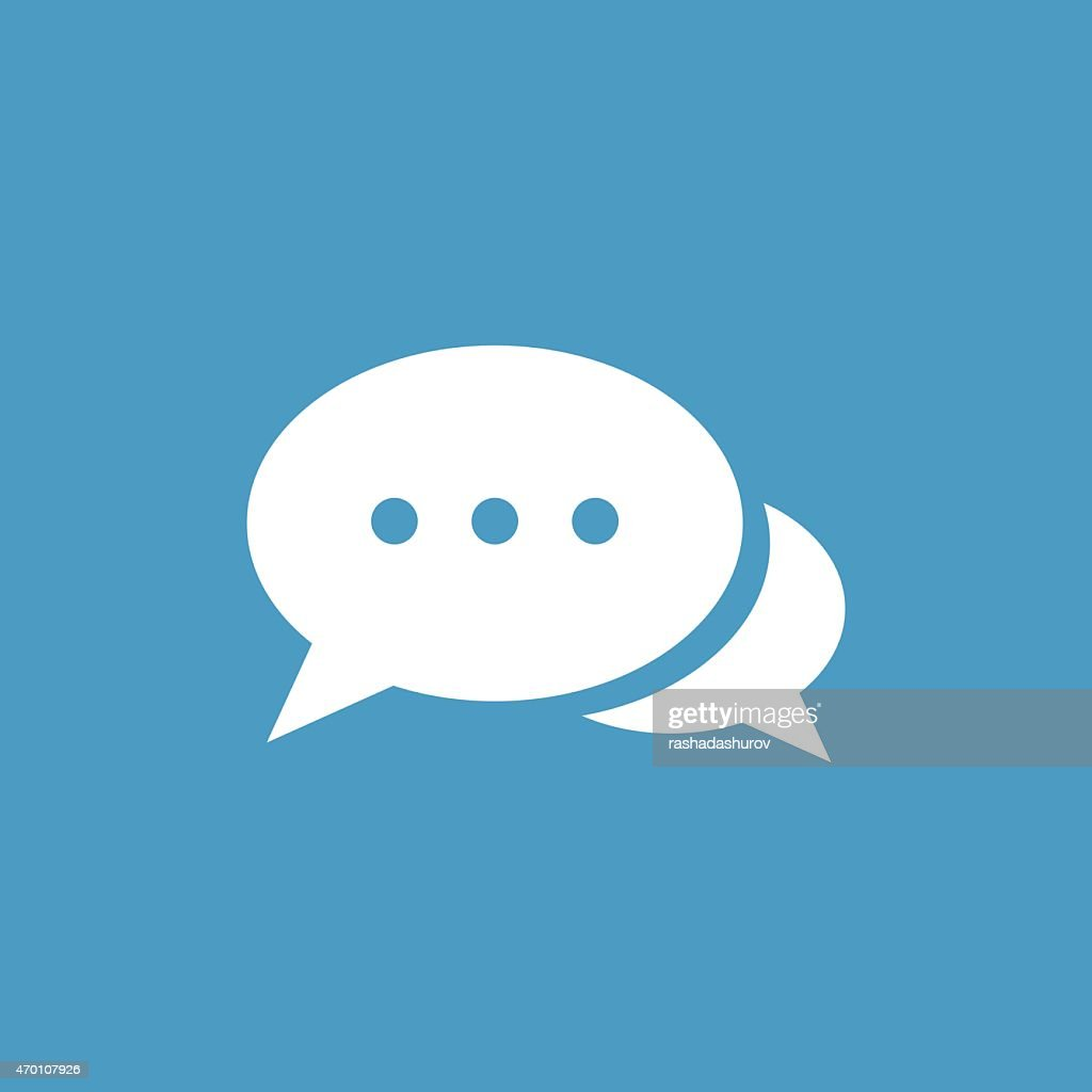 chat icon, white on the blue background