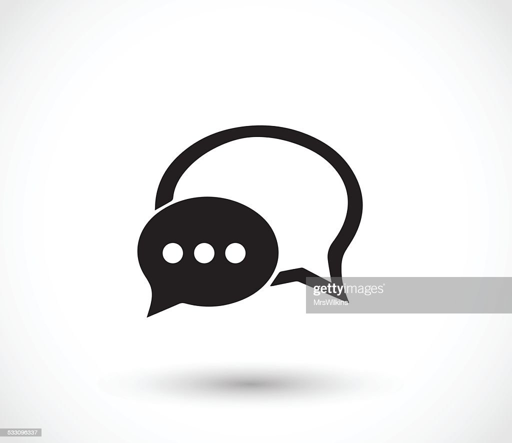 Chat icon with dialog clouds vector illustration
