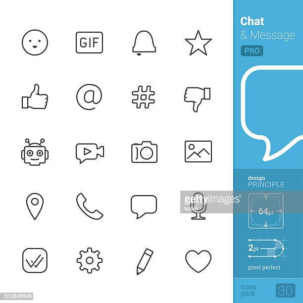 chat interface vector icons - pro pack - thumbs down stock illustrations