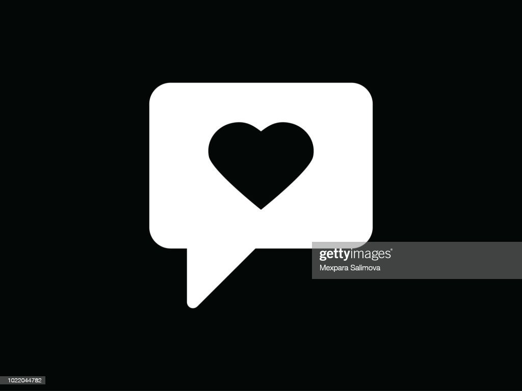 Chat love vector