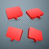 Chat red set art frame text.