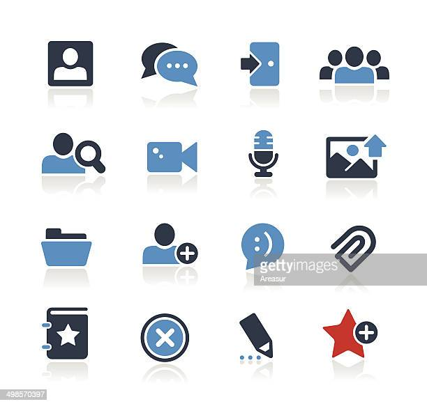 Chat Room Icons Two Colors | Pro Series