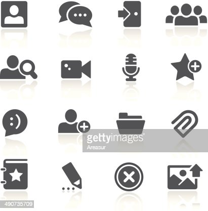 Chat Room Icons Vector Art Getty Images