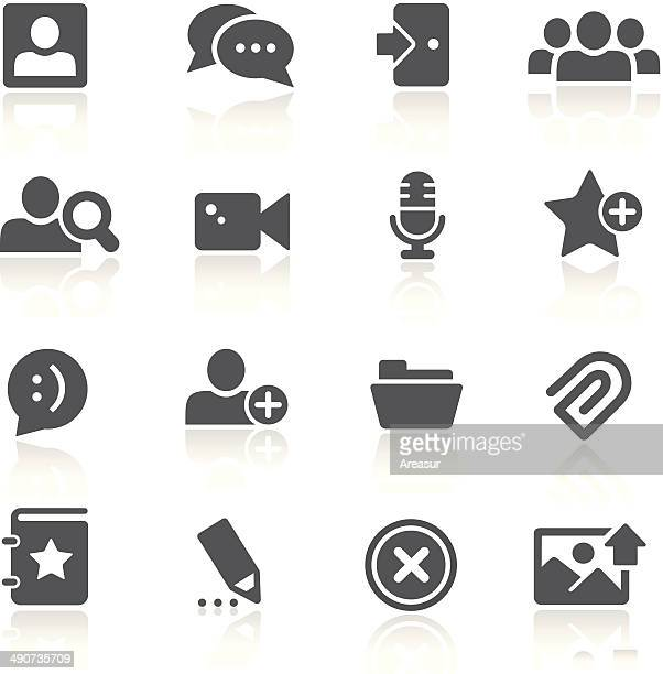 illustrazioni stock, clip art, cartoni animati e icone di tendenza di chat room icone - fotografia immagine