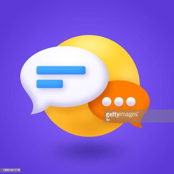 ilustrações, clipart, desenhos animados e ícones de chat speech bubble communication - discurso