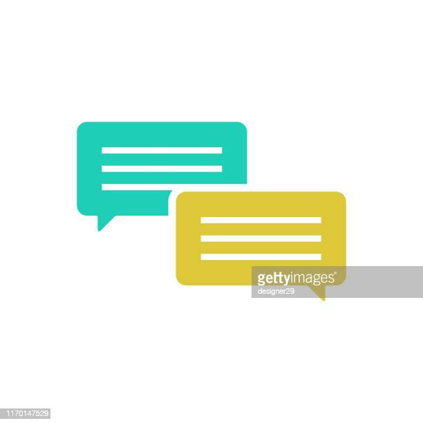 chat speech bubble icon. - thanks quotes stock illustrations