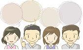 Chat speech bubbles – employee