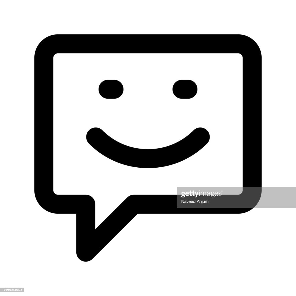 chat Thin Line Vector Icon