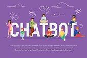 Chatbot concept illustration