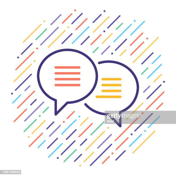 chatbot software vector line icon illustration - deep learning stock illustrations