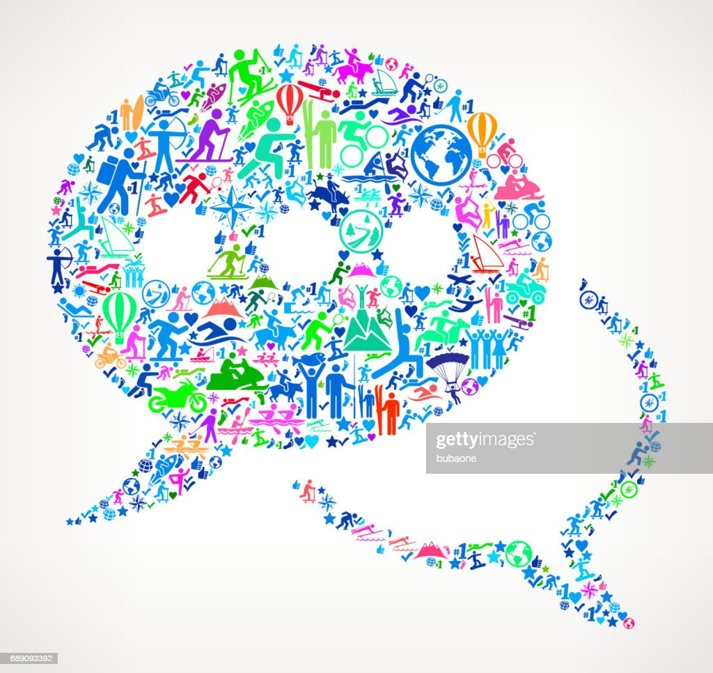 Chatbubble  Active Lifestyle Vector Icon Pattern : Stock Illustration