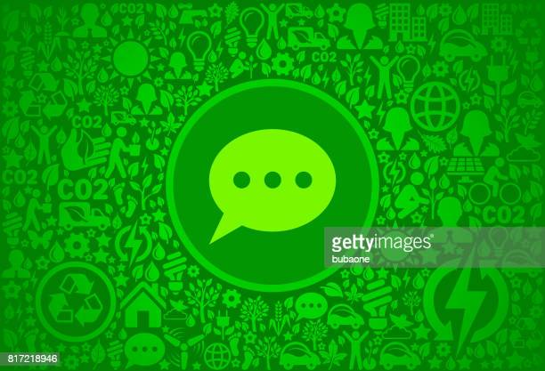 chatbubble environment green vector icon pattern - activist icon stock illustrations