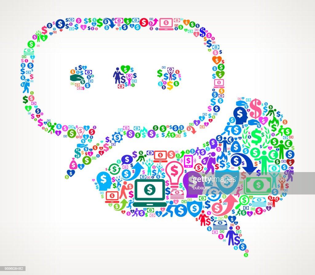 Chatbubble Geld-Symbol Vektormuster : Stock-Illustration