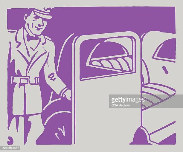Chauffeur Holding Open Car Door