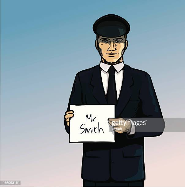 ilustraciones, imágenes clip art, dibujos animados e iconos de stock de chofer nombre de - taxista