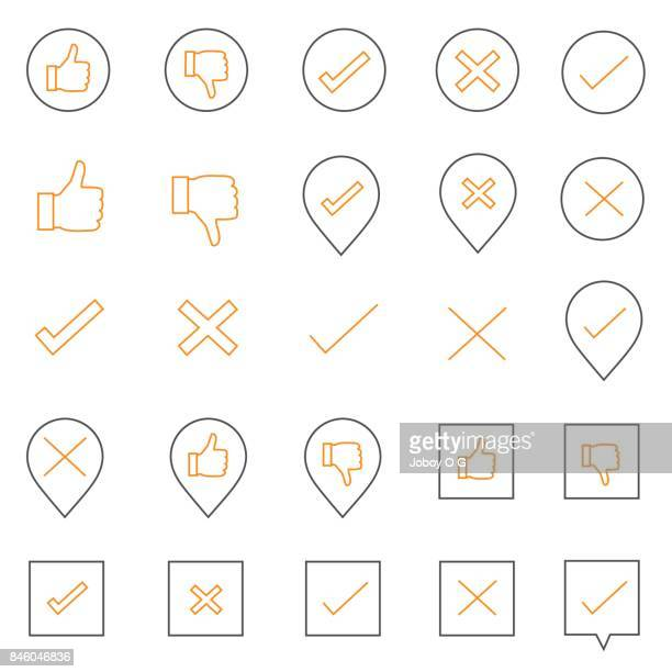 Check and cross Icons