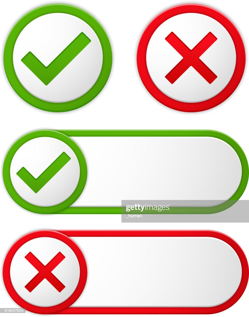 Check and Cross Symbols