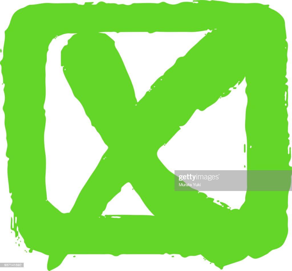 Check box and x mark 2