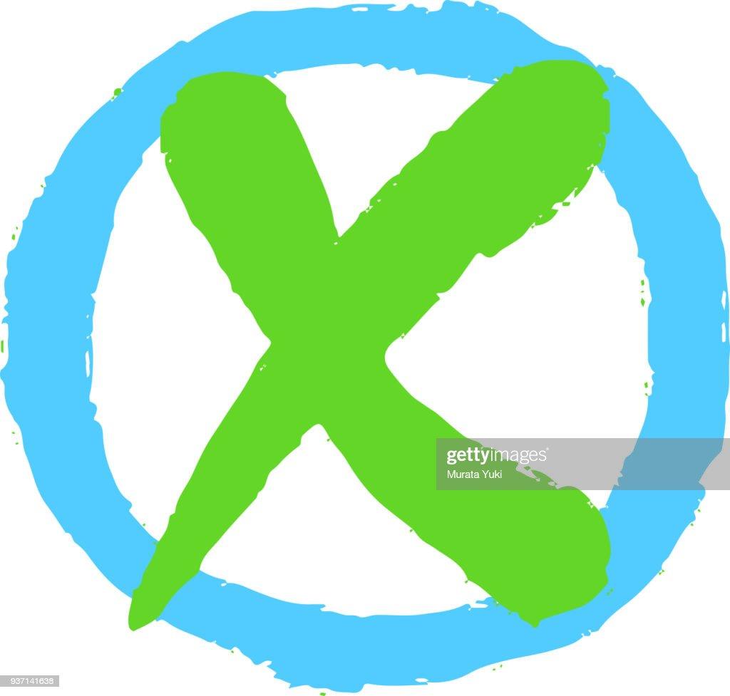 Check box and x mark 5