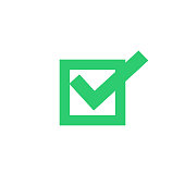 Check Box Icon, Vector of Vote Yes Sign. Voting concept.