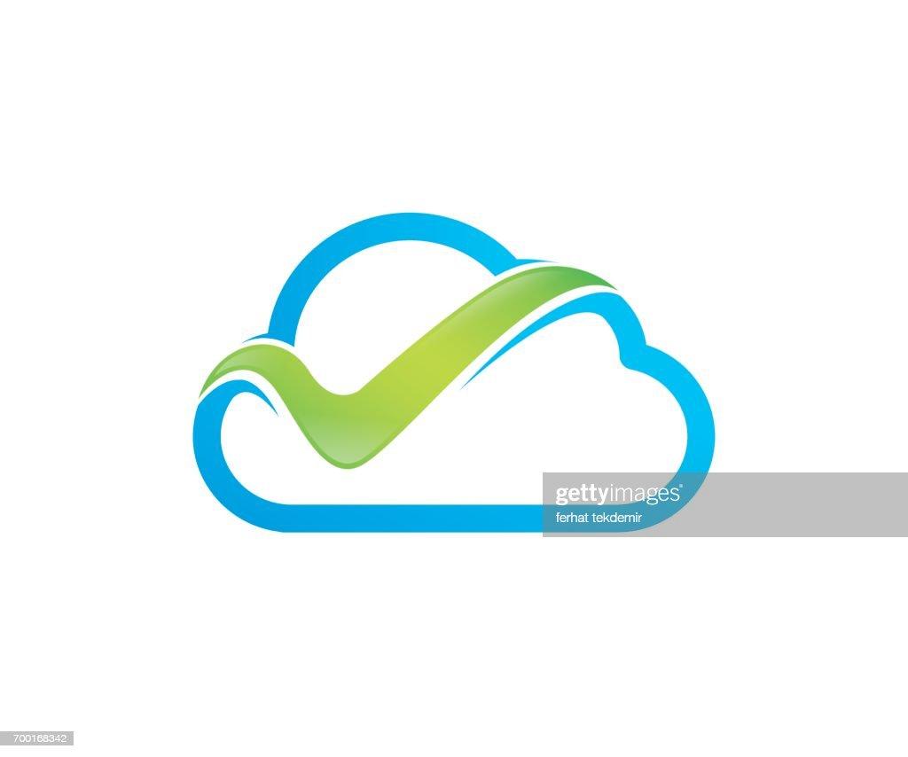Check cloud vector icon
