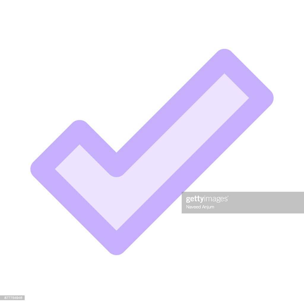 check Colour Line Vector Icon