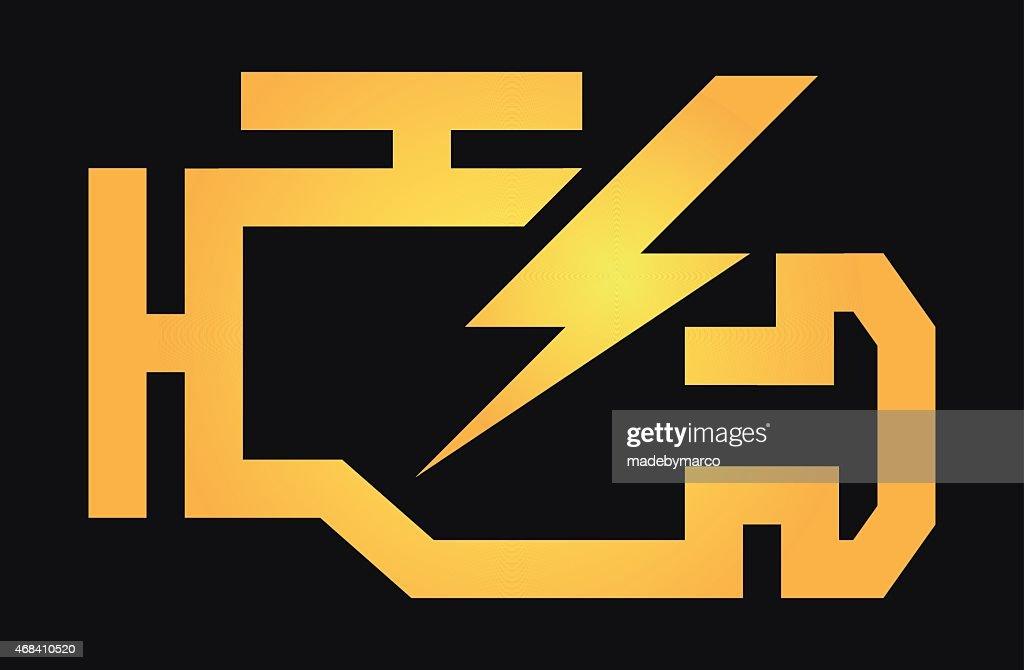 Check Engine light symbol logo icon yellow