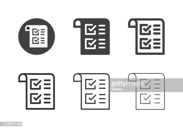 check form icons - multi series - to do list stock illustrations