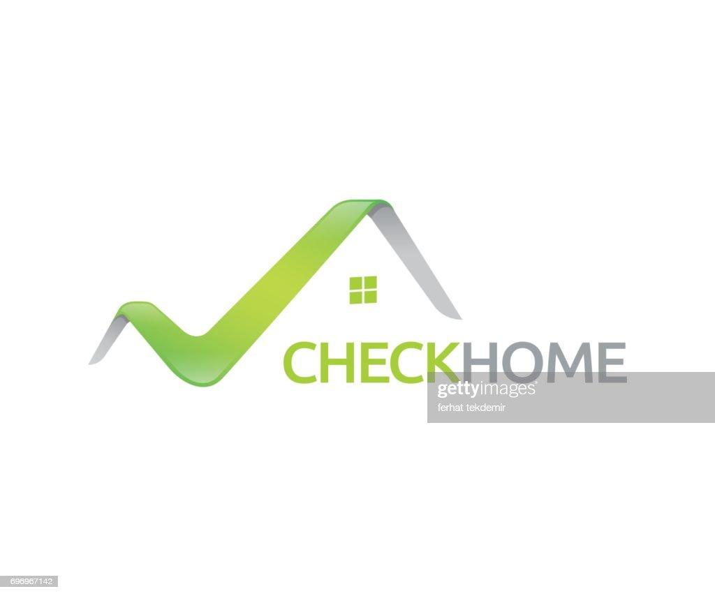 Check home vector icon - Illustration