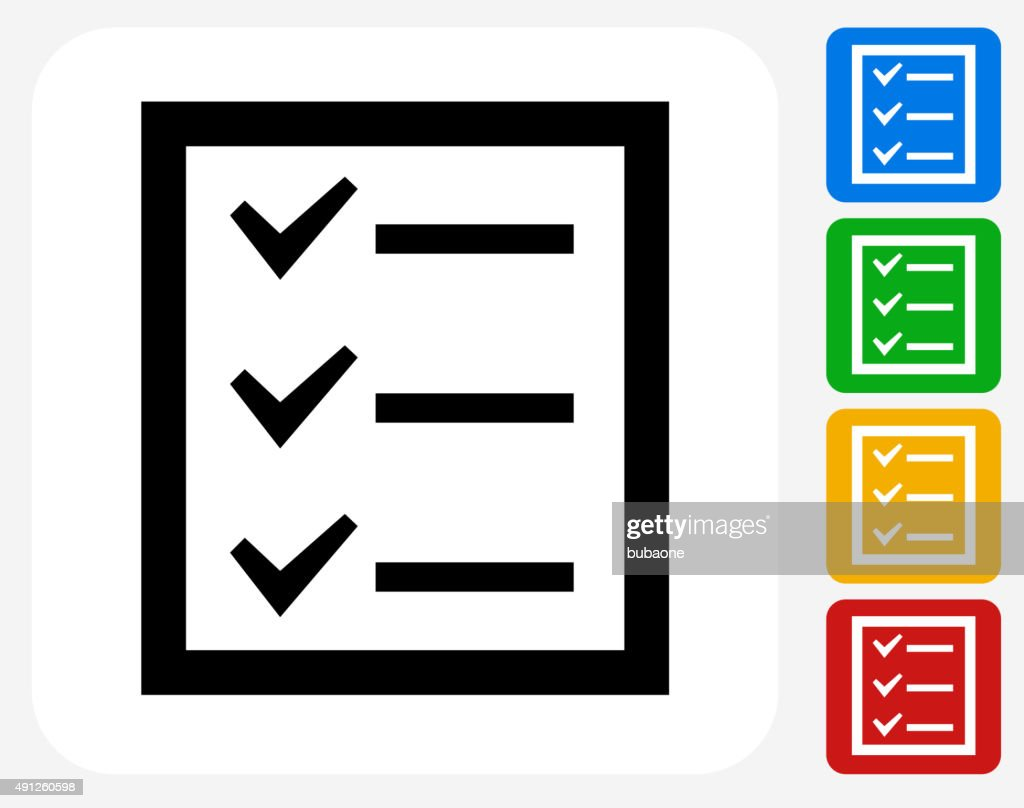 Check List Icon Flat Graphic Design
