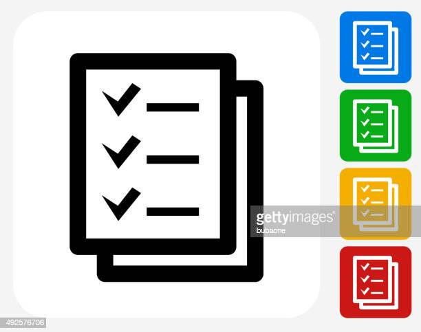 Check List Icon Flat Graphic Design