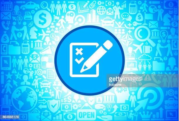 check listensymbol für wirtschaft und finanzen-vektor-hintergrund - piktogramm collage stock-grafiken, -clipart, -cartoons und -symbole
