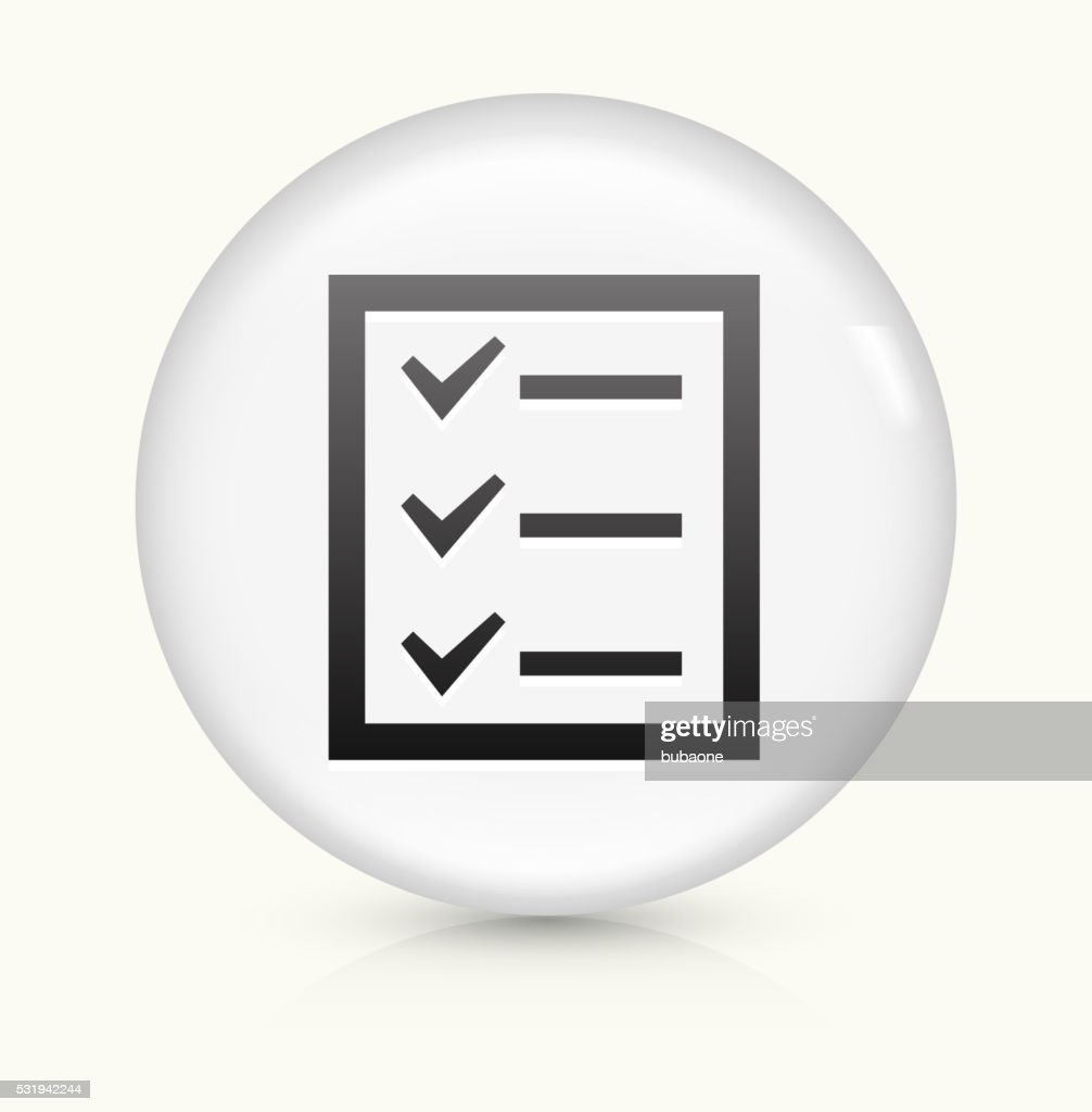 Check List icon on white round vector button