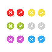 check, list, tick, checkmark icon set isolated vector