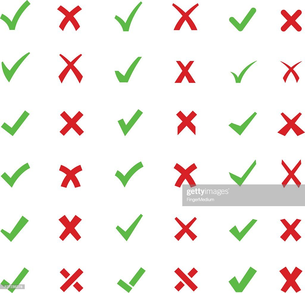 Check mark buttons : stock illustration