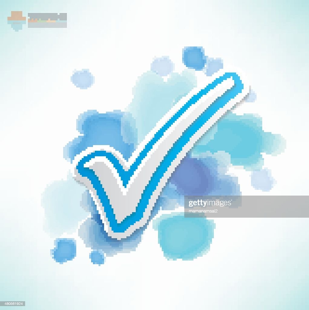 Check mark design,Water colour concept,clean vector : Vector Art
