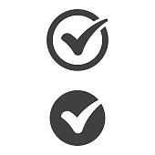 Check Mark Icon Flat Design.