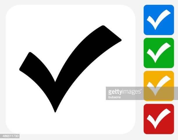 Check Mark Icon Flat Graphic Design