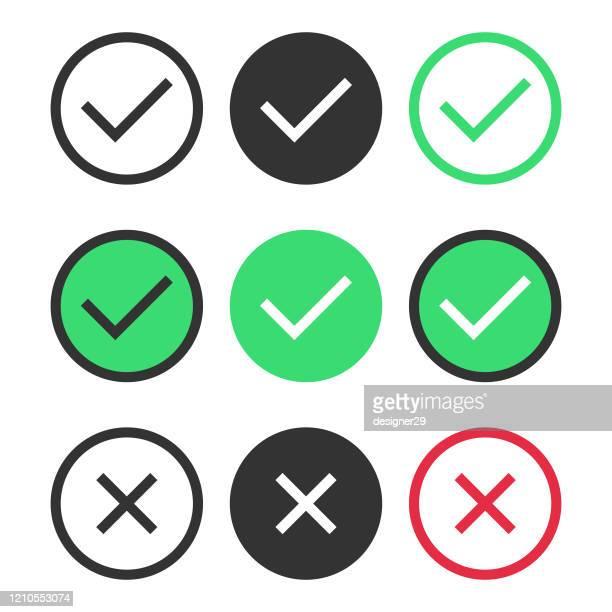 ilustrações, clipart, desenhos animados e ícones de verifique o projeto do vetor do ícone da marca no fundo branco. - examinar
