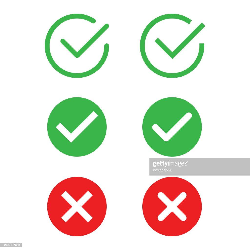 Check Mark Icon Set Vector Design. : stock illustration