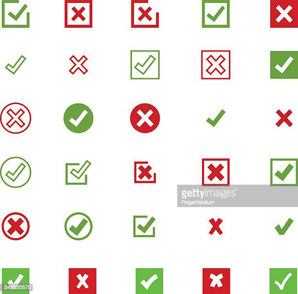 check mark icon set - accuracy stock illustrations