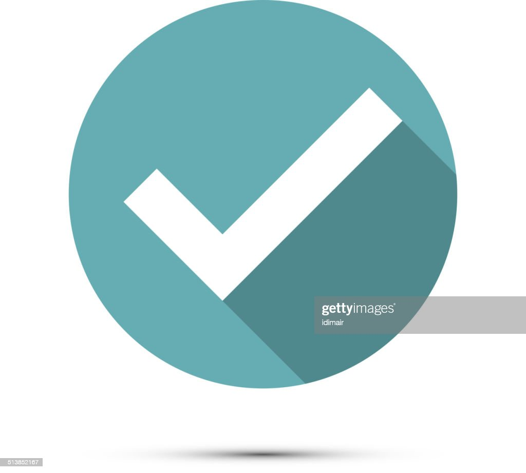 Check mark icon. Vector