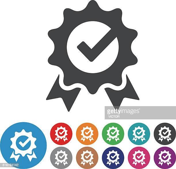 ilustraciones, imágenes clip art, dibujos animados e iconos de stock de marca de verificación de iconos-serie icono gráfico - calidad