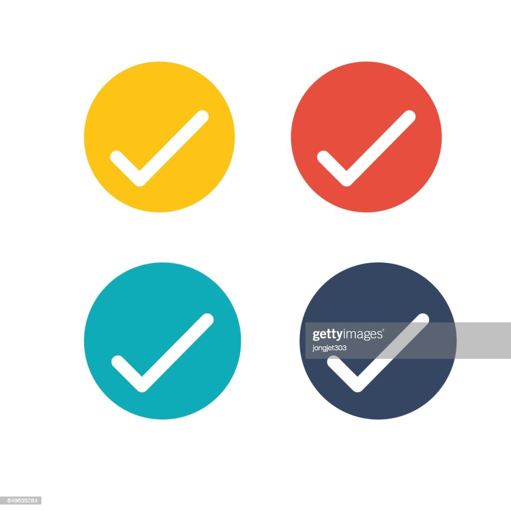 Check Mark Outline Horseshoe Icon for website design