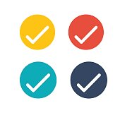 Check Mark Outline Horseshoe Icon for website design